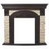 Портал для электрокамина Electrolux Torre Classic U (угловой) камень слоновая кость, шпон темный дуб