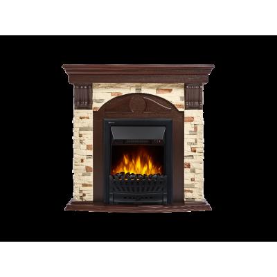 Портал для электрокамина Electrolux Torre Classic камень сланец натуральный, шпон темный дуб