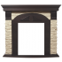 Портал для электрокамина Electrolux Torre Classic камень слоновая кость, шпон темный дуб