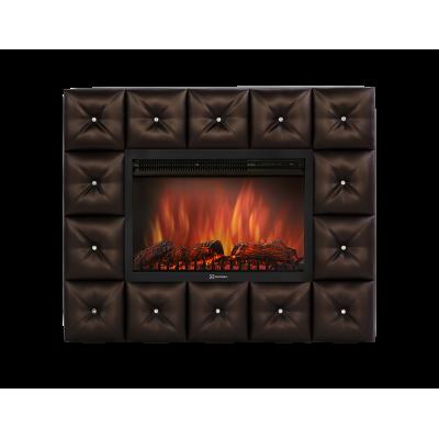 Портал для электрокамина Electrolux Crystal 30 тёмная экокожа